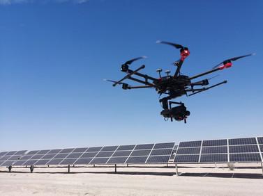 Drones para celdas solares