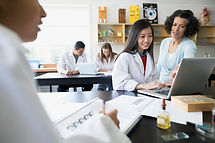 students in a laboratory science class