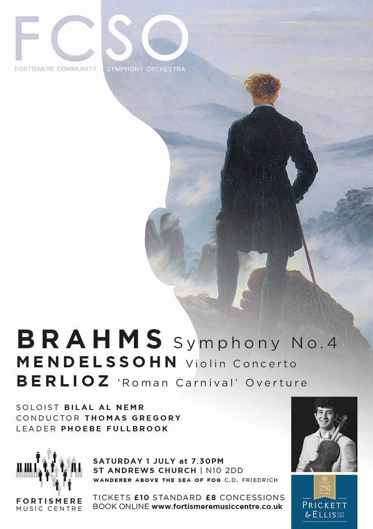 Fortismere Community Symphony Orchestra | Brahms, Mendelssohn & Berlioz