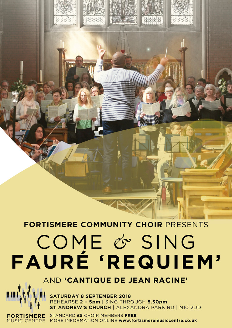September 2018 - Come and Sing Fauré Programme:  FAURÉ - Cantinque de Jean Racine FAURÉ - Requiem Soloists:  Ryan Webber - baritone Viola Sampson - soprano Musical Director: Marvin L. Perrott