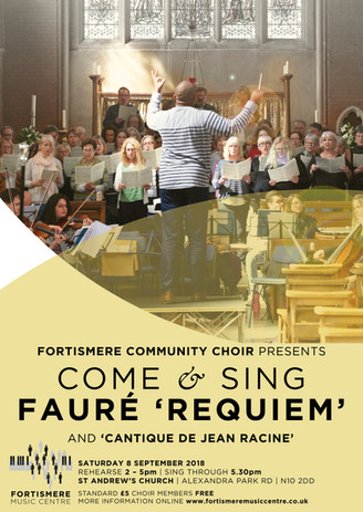 September 2018 - Come and Sing Fauré Programme:  FAURÉ - Cantinque de Jean Racine FAURÉ - Requiem Soloists:  Ryan Webber - baritone Viola Sampson - soprano Musical Director: Marvin L. Perrott