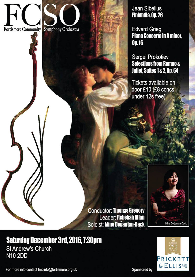 Fortismere Community Symphony Orchestra | Sibelius, Grieg & Prokofiev