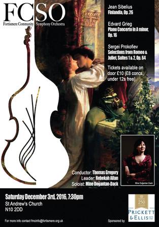 Fortismere Community Symphony Orchestra   Sibelius, Grieg & Prokofiev