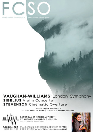Fortismere Community Symphony Orchestra   Vaughan-Williams, Sibelius & Stevenson