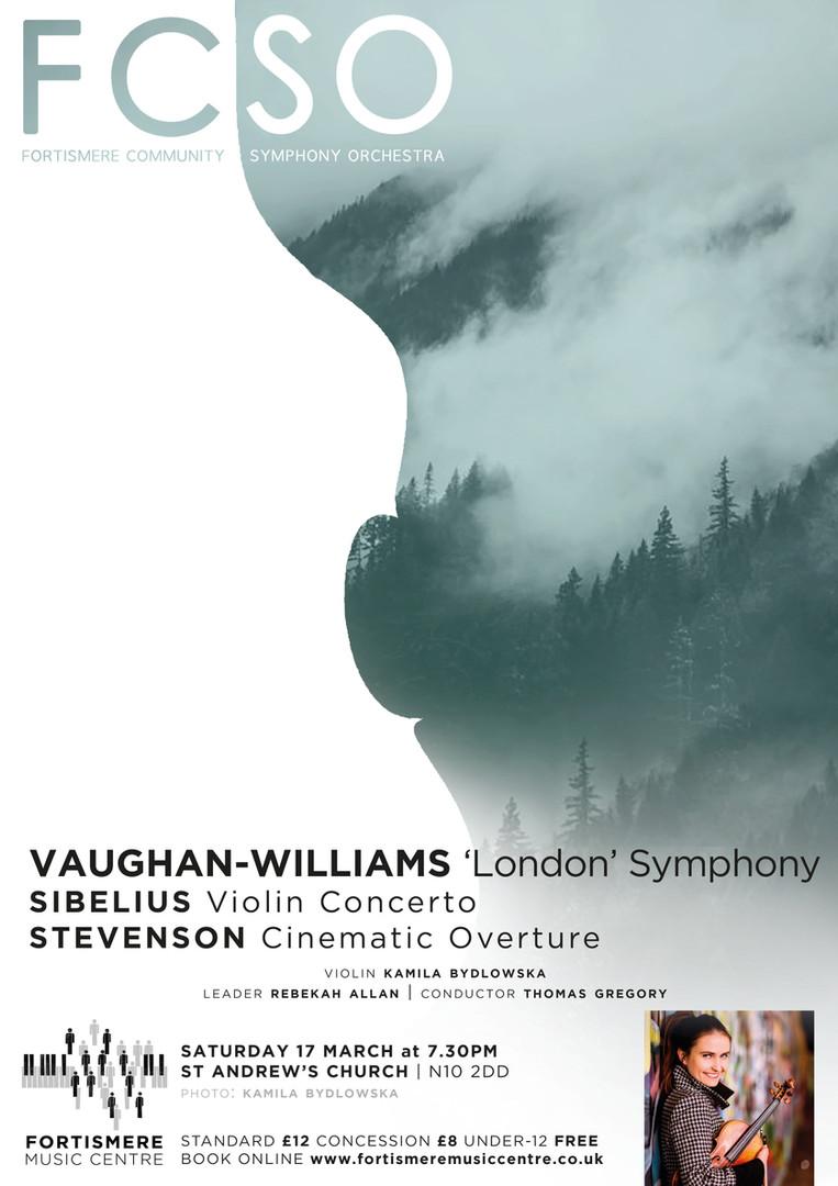 Fortismere Community Symphony Orchestra | Vaughan-Williams, Sibelius & Stevenson