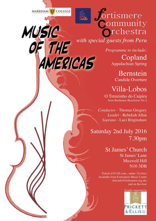 Fortismere Community Symphony Orchestra   Music of the Americas