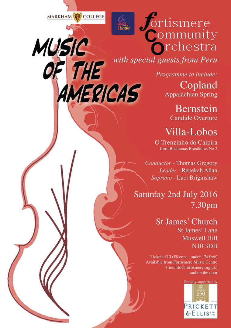 Fortismere Community Symphony Orchestra | Music of the Americas