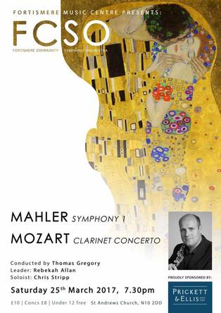 Fortismere Community Symphony Orchestra   Mahler & Mozart