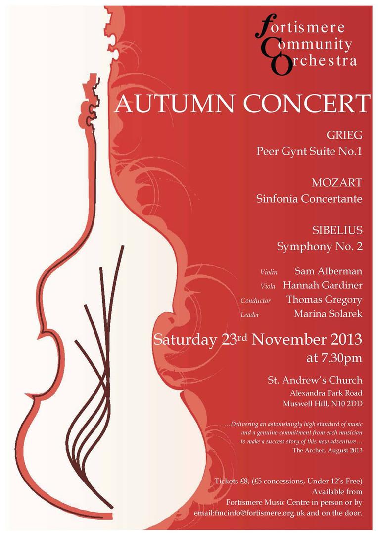 Fortismere Community Symphony Orchestra | Autumn Concert