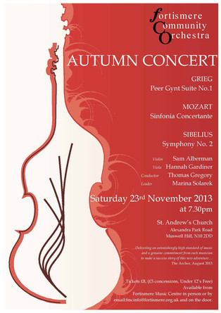Fortismere Community Symphony Orchestra   Autumn Concert