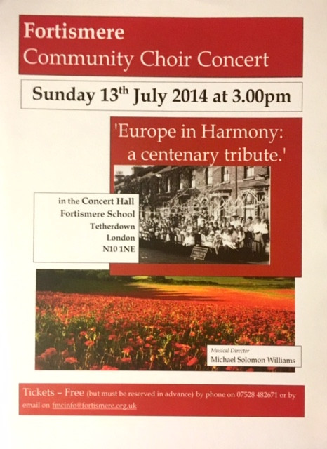Fortismere Community Choir | Europe in Harmony
