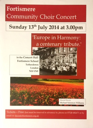 Fortismere Community Choir   Europe in Harmony
