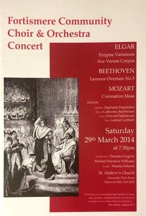 Fortismere Community Choir & Symphony Orchestra   Elgar, Beethoven & Mozart