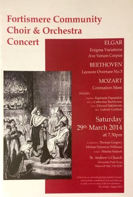 Fortismere Community Choir & Symphony Orchestra | Elgar, Beethoven & Mozart