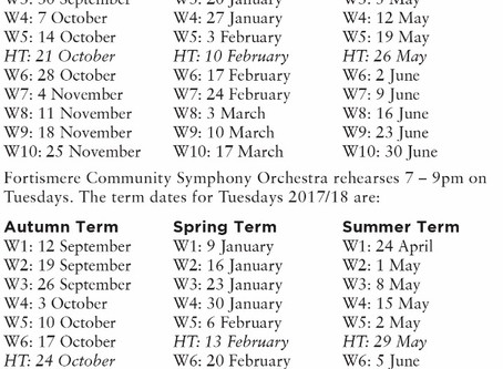 Term Dates & Rehearsal Times