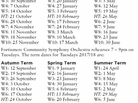 Term Dates & Rehearsal Times