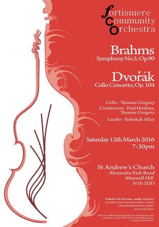 Fortismere Community Symphony Orchestra   Brahms & Dvorak