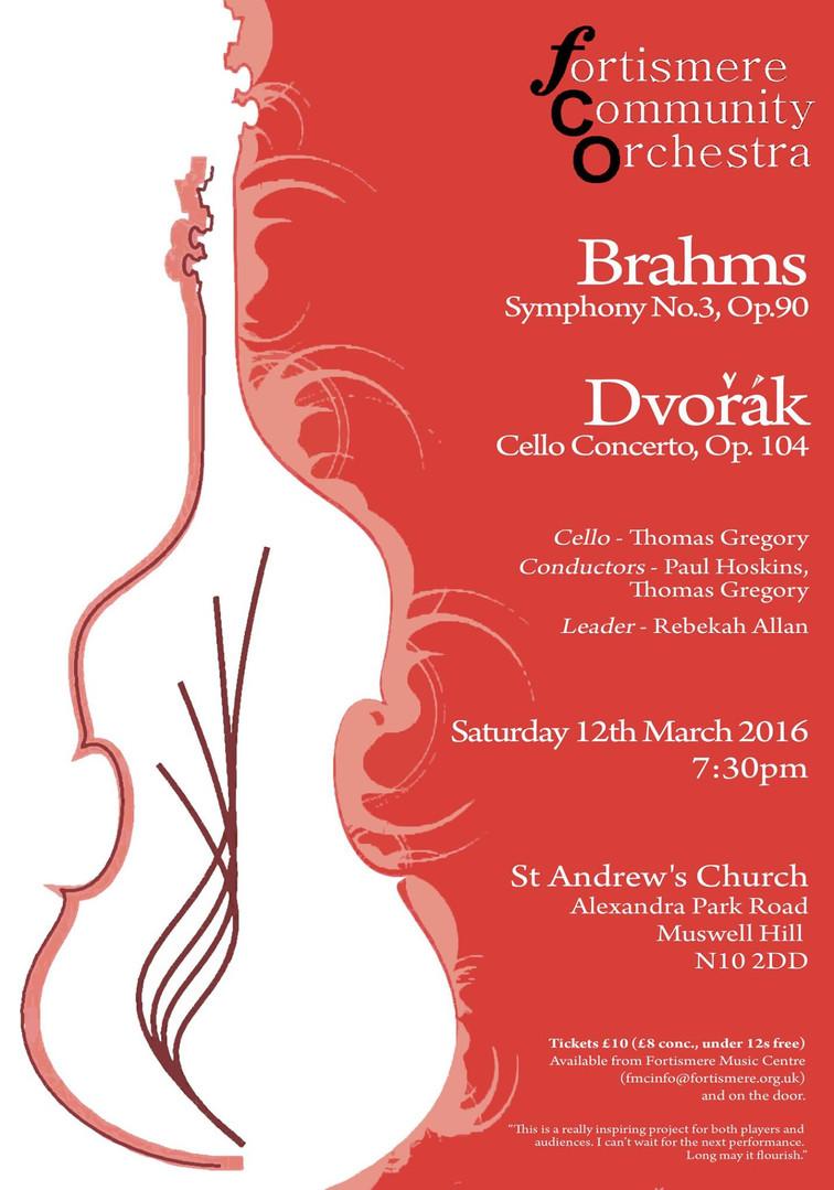 Fortismere Community Symphony Orchestra | Brahms & Dvorak
