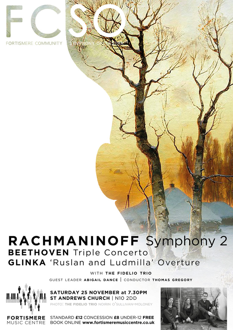 Fortismere Community Symphony Orchestra | Rachmaninoff, Beethoven & Glinka