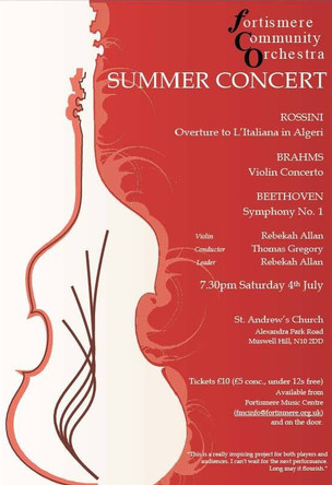 Fortismere Community Symphony Orchestra   Summer Concert