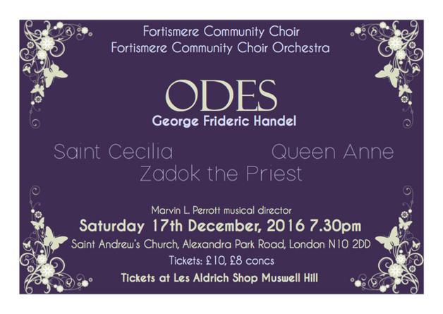 Fortismere Community Choir   Handel Odes