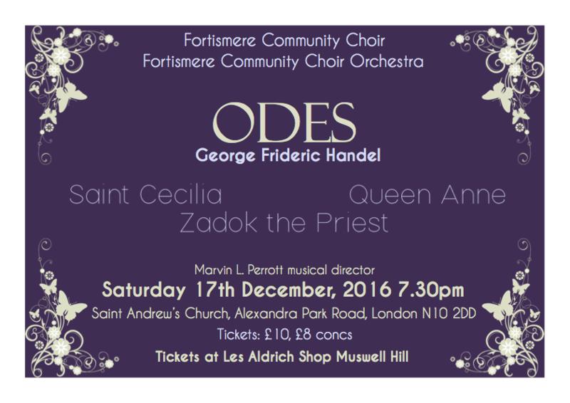 Fortismere Community Choir | Handel Odes