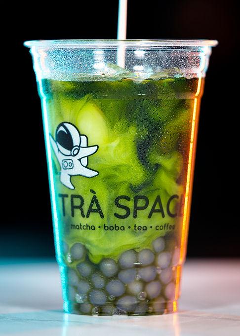 Iced Matcha Boba Tea