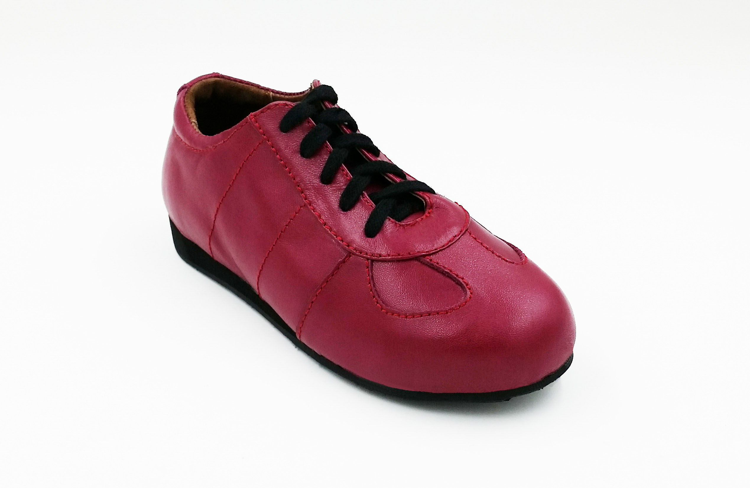 Casey Leather Sports Shoe Deep Fuchsia