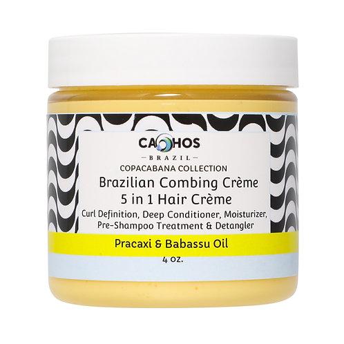 Cachos Brazilian Combing Crème 5 in 1 Hair Crème 4oz