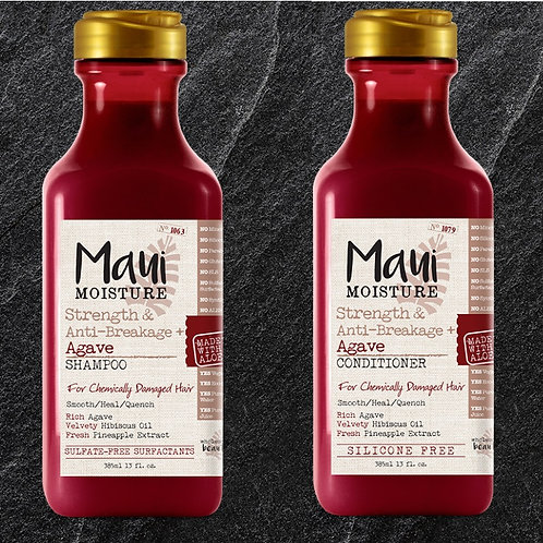 Maui Moisture Agave Shampoo & Conditioner Set for chemically damaged hair