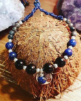 Lapis lazuli, tourmaline, labradorite, o