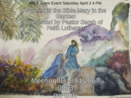 April 3 Women of the Bible Mary in the Garden