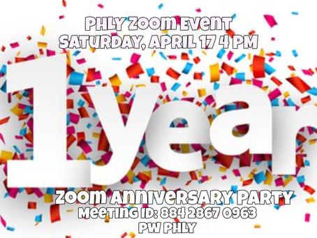 April 17 Happy Zoom-iversary