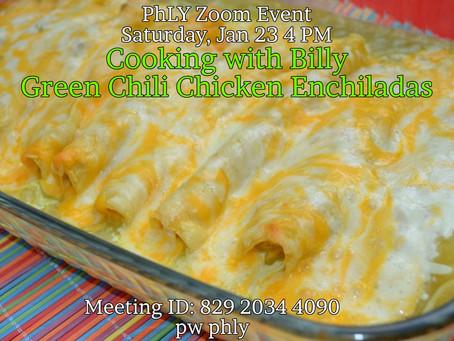 Jan 23 2021 Cooking with Billy Green Chili Chicken Enchiladas