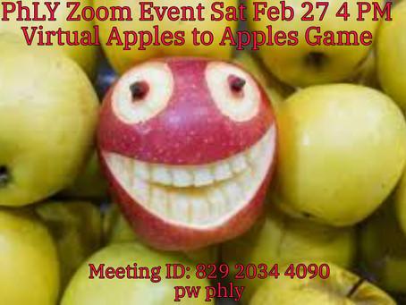 Feb 27 Virtual Apples to Apples