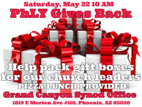 Saturday, May 22 PhLY Gives Back