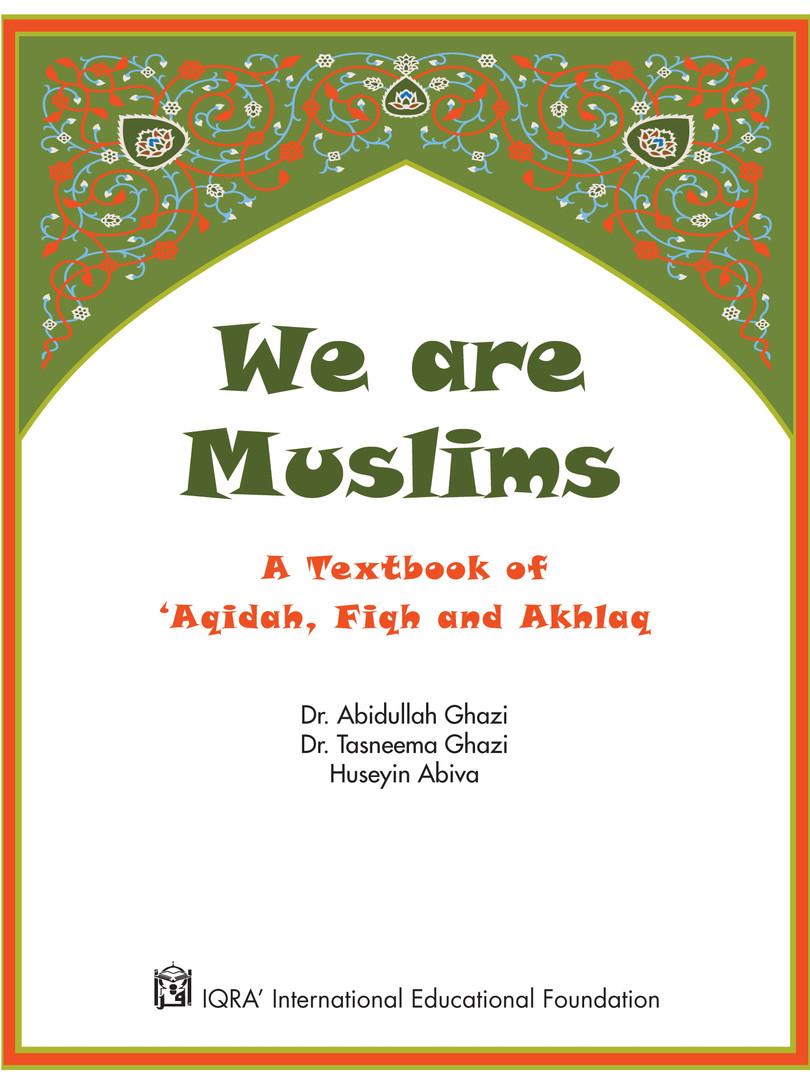 We Are Muslim Grade 3 - Inside Cover