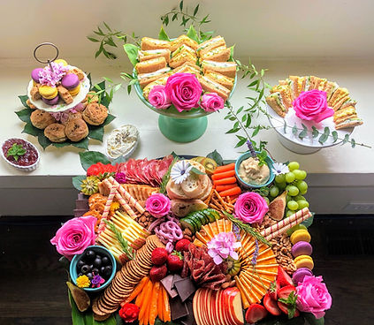 Alameda catering services. Weddings, events, tea party.
