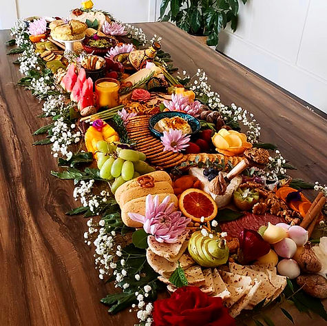 Cater events in the East Bay. Beautiful spreads for special occasions