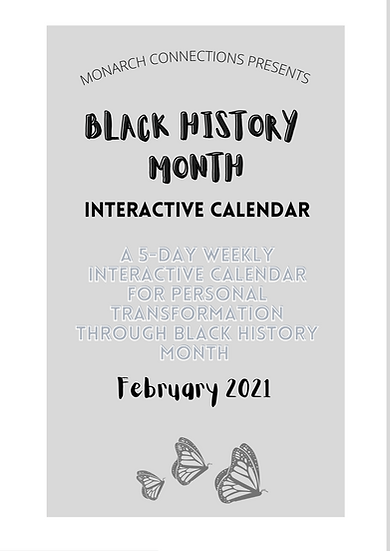Black History Month Interactive Calendar