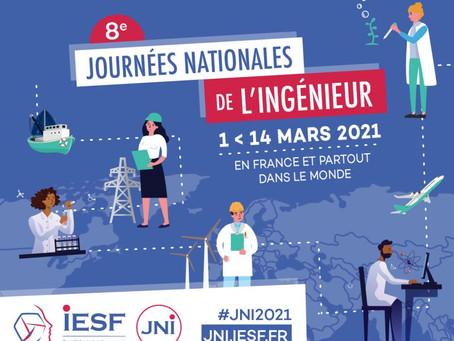 Vous êtes tous conviés à être acteurs des Journées Nationales de l'Ingénieur du 1er au 14 mars 2021