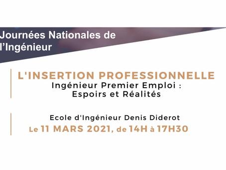 """L'insertion professionnelle : Conférence aux """"Journées Nationales de l'Ingénieur"""""""