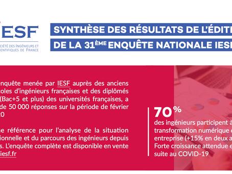 La situation professionnelle et socio-économique des ingénieurs et scientifiques diplômés en France.