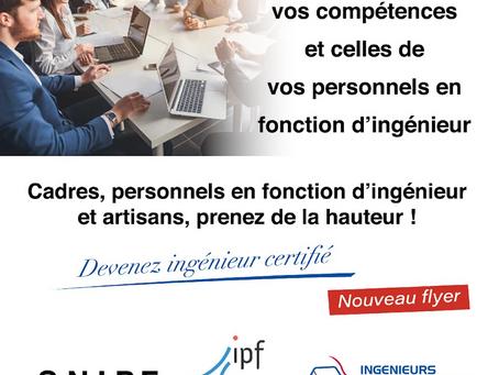 Devenez ingénieur certifié : Un nouveau support créé par la SRIPF Rhône Ain