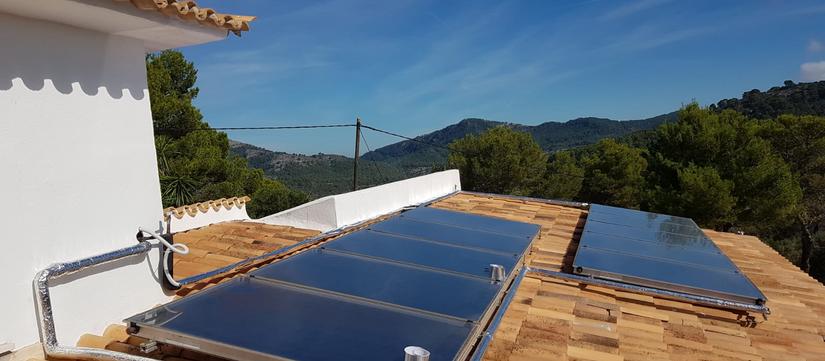 Solar Panels Roof-House