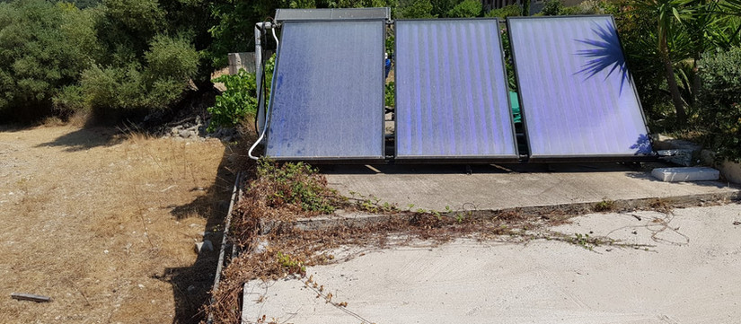 Tilted Solar Panels