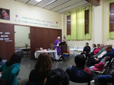 Misa, comida y fiesta en la celebración de la jornada Navideña.