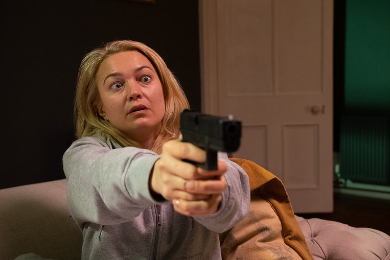 Sophia Myles in Decrypted 2021