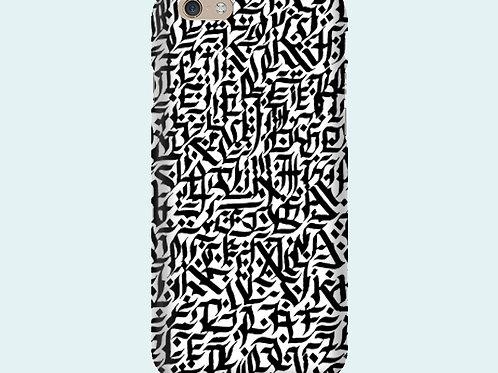 Чехол с принтом «Абстрактная каллиграфия»