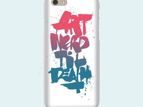 Чехол с надписью «Art nerd till death»